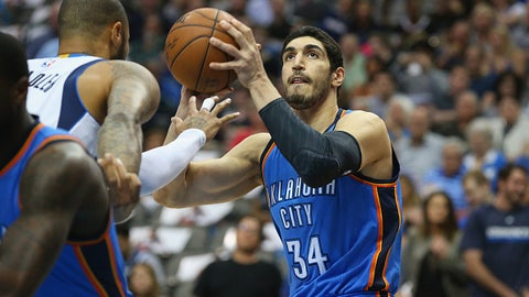 Enes Kanter, Oklahoma City Thunder (2015 salary: $16.4 million)