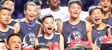 Chinese students honor Kobe Bryant with giant snow portrait on basketball court