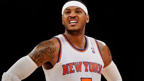 Carmelo Anthony, New York Knicks (2015 salary: $22.9 million)