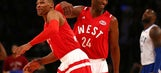 The Latest: Westbrook All-Star game MVP, West wins 196-173