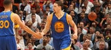 Curry scores 42, Thompson adds 33 as Warriors overcome Wade, Heat