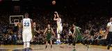 Steph Curry halfcourt shot highlights Warriors' 46th straight home win