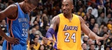 Kobe's high school coach narrates Thunder's tribute to the Lakers icon