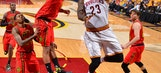LeBron, Cavs hold off Hawks 104-93 in Game 1
