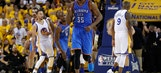 Durant, Westbrook power Thunder past Warriors 108-102