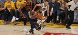 The Latest: Cavaliers lead Warriors 21-19 after 1st quarter
