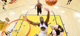 The Latest: Warriors blow Cavs out 110-77, lead Finals 2-0