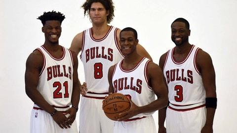 Chicago Bulls: Jimmy Butler, Dwyane Wade, Robin Lopez