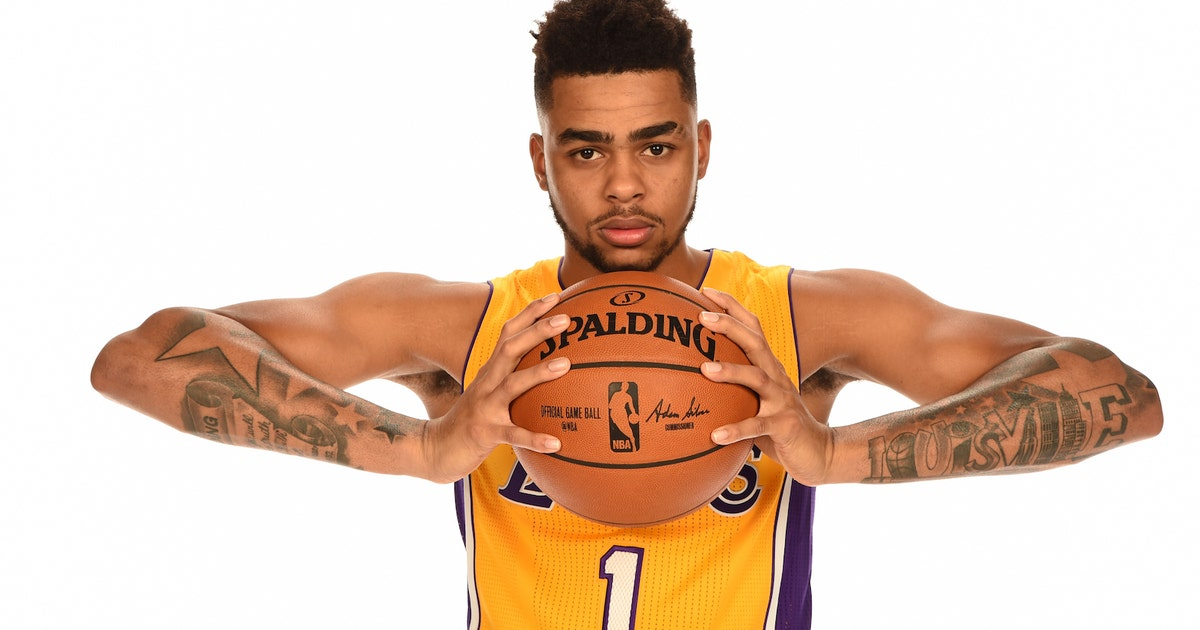 D 39 angelo russell got a new tattoo to honor muhammad ali for La lakers tattoo