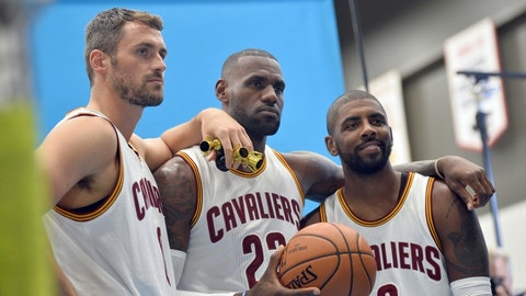 Cleveland Cavaliers: LeBron James, Kyrie Irving, Kevin Love