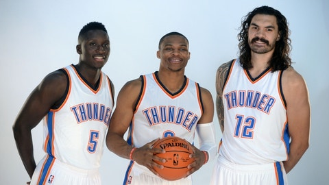 Oklahoma City Thunder: Russell Westbrook, Steven Adams, Victor Oladipo