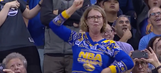 Watch this Warriors fan's stunning arsenal of sick dance moves