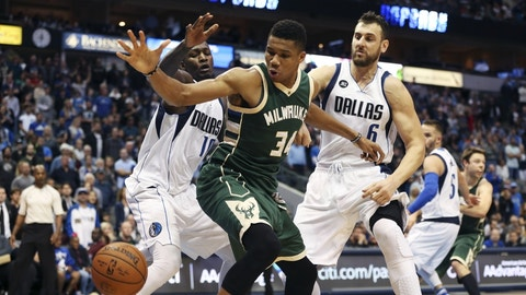Dallas Mavericks: Kelly Olynyk over Giannis Antetokounmpo (2013, Pick No. 13)