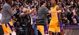 Watch Nick Young steal a pass to his Lakers teammate to hit a game winner