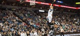 Watch dunk champ Zach LaVine pull off a 360 slam from the free-throw line