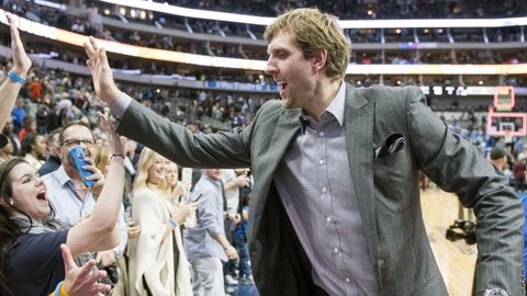 Dallas Mavericks: Dirk Nowitzki, 38