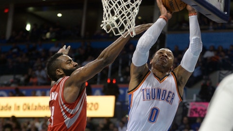 Russell Westbrook vs. James Harden