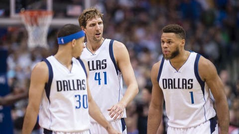 Dallas Mavericks: Dirk Nowitzki, Wes Matthews, Seth Curry