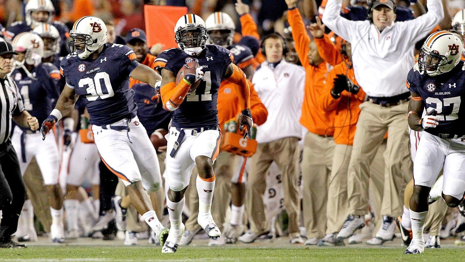 Auburn shocks Alabama with game-winning missed field goal return TD