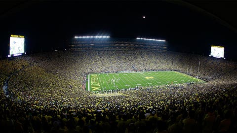 First night game at the Big House – 2011