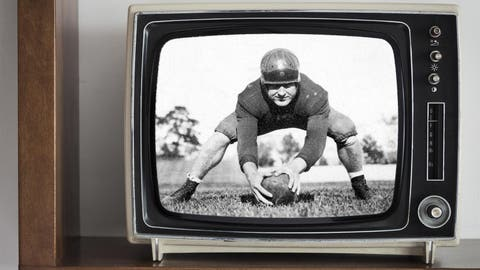 First televised game – Fordham-Waynesburg, 1939