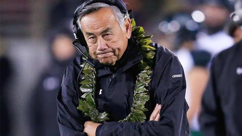 3. Norm Chow, Hawaii (8-29, three seasons)