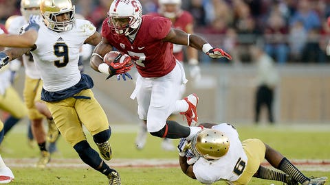 22. Stanford at Notre Dame (Oct. 4)