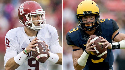 Oklahoma at West Virginia, 7:30 p.m. ET, FOX