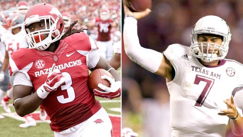 Arkansas vs. Texas A&M (Arlington), Saturday, 3:30 p.m. ET, CBS