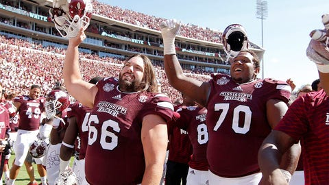 Offensive lineman: Ben Beckwith (66), Mississippi State Bulldogs