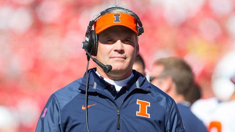 2. Tim Beckman, Illinois (12-25, three seasons)