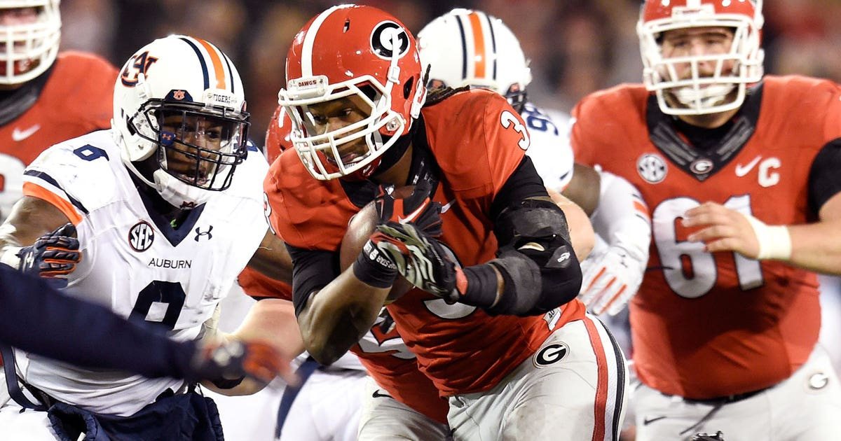 0527e83bd Gurley, Chubb team up to lead No. 15 Georgia past No. 9 Auburn | FOX Sports
