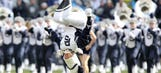 Penn State Blue Band crashes Nittany Lions team meeting (VIDEO)