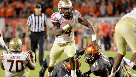 Atlantic Rushing: Dalvin Cook, Sophomore, Florida State (1,008 yards)