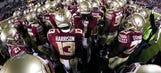 Florida State to honor shooting victims with ribbon helmet decals
