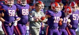 Dabo does the 'Dab' after four-star safety Simmons commits