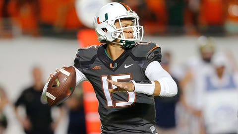 Coastal Passing: Brad Kaaya, Sophomore, Miami (3,198 yards)