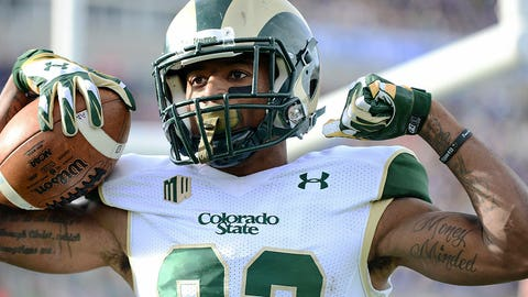 WR: Rashard Higgins, Colorado State (2nd: Nelson Agholor, USC)