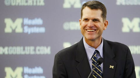 Dec. 29, 2014 -- Jim Harbaugh comes home