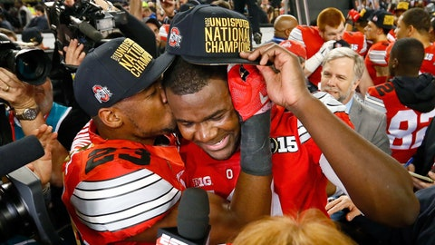 Jan. 12, 2015 -- Ohio State wins the national championship