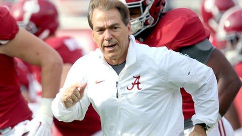 SEC: Alabama Crimson Tide (5/2)