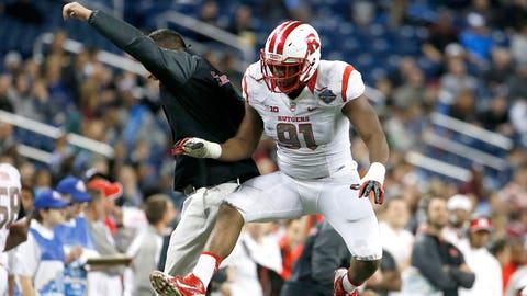 Darius Hamilton, DE, Rutgers (son of Pro Bowl defensive end Keith Hamilton)