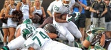 Freshman RB London scores 2 TDs as No. 5 Spartans top W. Michigan