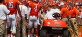 Clemson WR Mike Williams taken to hospital after hitting goal post