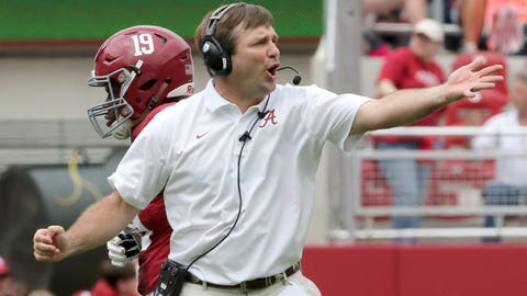Alabama defensive coordinator Kirby Smart