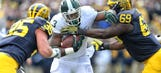 Michigan linebacker Bolden hit with controversial targeting call