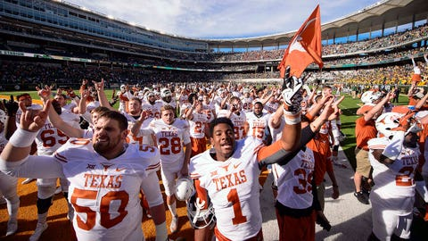 Winner: Texas Longhorns (and Charlie Strong)