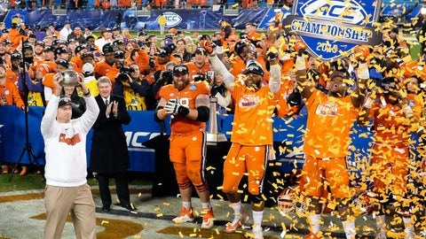Winner: Clemson football