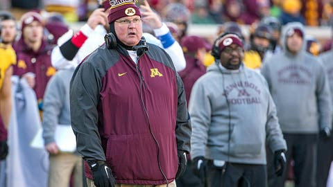 Minnesota: Promoted interim coach Tracy Claeys
