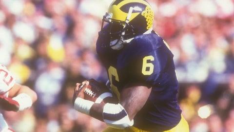 Tyrone Wheatley Jr., TE, Michigan (son of former Michigan star and Top 10 NFL pick Tyrone Wheatley)